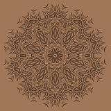 Brown Oriental Geometric Ornament