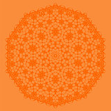Orange Oriental Geometric Ornament