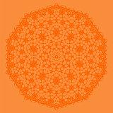 Orange Oriental Geometric Ornament