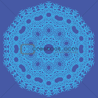 Blue Oriental Geometric Ornament