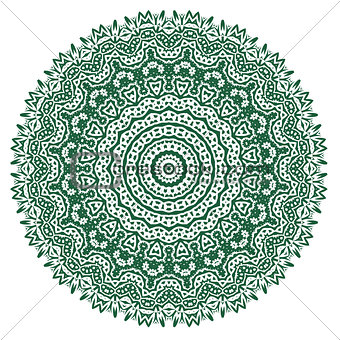 Green Ornamental Oriental Geometric Ornament