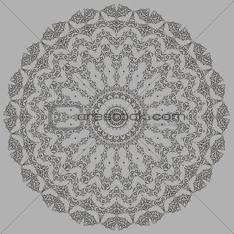 Grey Oriental Geometric Ornament