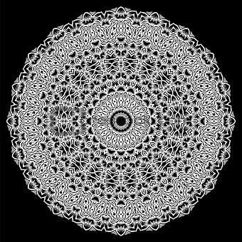 Grey Ornamental Oriental Geometric Ornament
