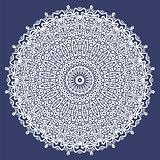 White Oriental Geometric Ornament