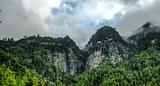 Panorama Paro valley Taktsang lakhang aka tigress nest monastery Bhutan