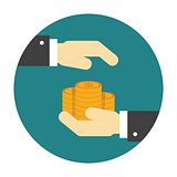 Money protection flat icon