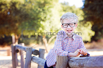 boy student in glasses