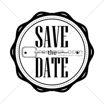Save the Date vintage stamp