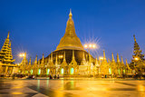Shwedagon Pagoda repair every five years at a time so as not to