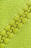 Background green closed zipper