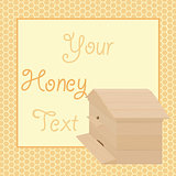Honey backgrounds with frame and beehive