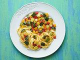 rustic  healthy italian pasta primavera