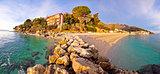 Moscenicka Draga village turquoise beach