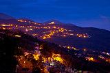Ucka mountain village evening view