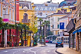 Colorful mediterranean street architecture of Opatija