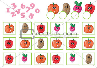 Cartoon Vector Illustration of Education Counting Game