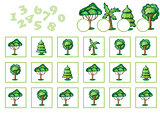Counting Game for Children with trees