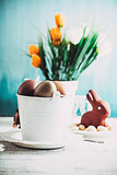 Easter table with decoration