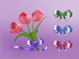 Tulips and Ribbon