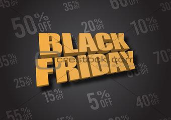 Black Friday 3D illustration