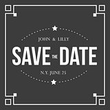 Save the Date vintage sign