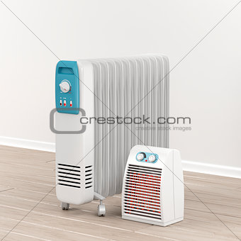 Oil-filled radiator and fan heater