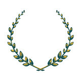 Victory laurel wreath.