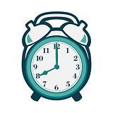 Alarm clock in flat style.