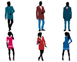 Businessmen and businesswomen silhouette