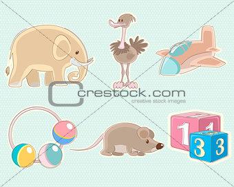 Six toys set