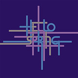 Vector typography background, phrase Hello Spring