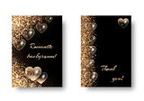 Set of romantic backgrounds with glitter
