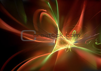 Abstract Background with Light Waves