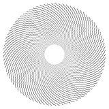 Circle design element. Zigzag lines texture.