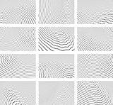 Lines patterns. Textured backgrounds set.