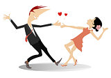 Love dance couple