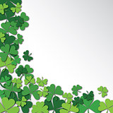 Happy Saint Patrick's Day Background. Clover, shamrock isolated on white background.