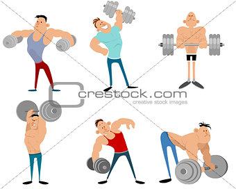 Six bodybuilders set