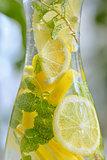 Fresh limes and lemonade