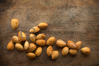 Almond shell nuts
