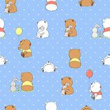 Cute cartoon bears