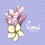 Bright floral  postcard