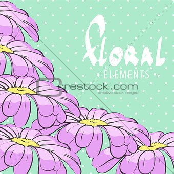 Bright floral  postcard