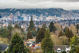 Portland City Skyline from Mount Tabor