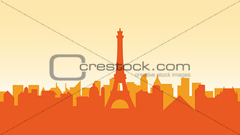 France silhouette architecture buildings town city country travel