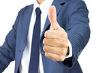 Businessman Show Thumb Up Isolated on White Background