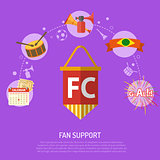 Soccer fan support Concept