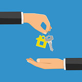 purchase or rental real estate concept