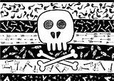 Doodle Indian Tribal Skull