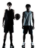 basketball players men  isolated silhouette shadow